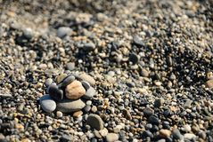 Beach rocks Stock Photography
