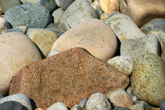 Beach rocks, rounded pebbles Stock Photo