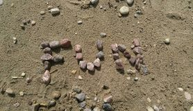Beach Rocks Spelling Fun Royalty Free Stock Photography