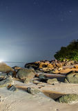 Beach and rocks with star in lipe island Royalty Free Stock Image