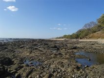 Beach. This is a rocky beach on the paficif coast of costa rica Royalty Free Stock Photo