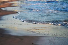 Beach Sand Waves Stock Photo