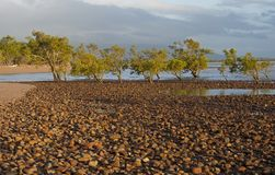 Beach at Rollingstone on the north Queensland coast Stock Image