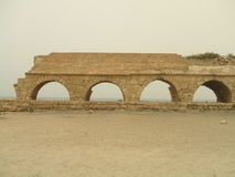 Beach Roman ruins, Caesarea, Israel, Middle East Royalty Free Stock Photos