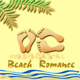 Beach romance Royalty Free Stock Photos