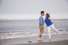 Beach romance Stock Photos