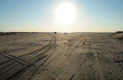Beach of Romo. The famous beach in Romo - Denmark Stock Photo