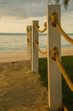 Beach rope line at the pole Royalty Free Stock Photography
