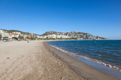Beach in Roses, Costa Brava, Spain Royalty Free Stock Image