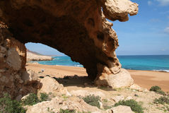 The beach of Rosh at Socotra island on Royalty Free Stock Images