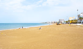 Beach in Rota, Spain Royalty Free Stock Images