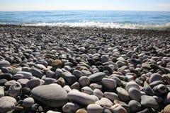 Beach round rocks texture Royalty Free Stock Photography