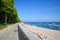 Beach in Rozewie at Baltic Sea in Poland Stock Photography