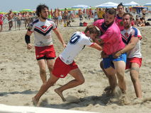 Beach Rugby LIBR 2014 Royalty Free Stock Photo