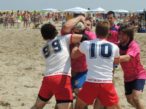 Beach Rugby LIBR 2014 Stock Photography