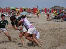 Beach Rugby Lido di Spina 2016 - Belli Den team Stock Photography