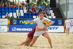 Beach Rugby Stock Photography