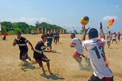 Beach Rugby tournament Stock Photography