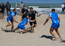 Beach Rugby Zelenogradsk Stock Photos