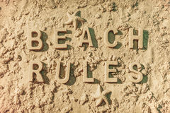 Beach Rules Royalty Free Stock Photography