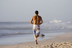 Beach run Stock Photography