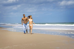 Beach run Stock Image