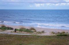 Beach runner Stock Images