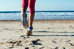 Beach runner Stock Photos