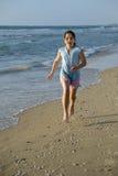 Beach running Royalty Free Stock Image