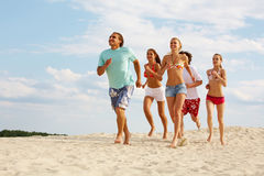 Beach running Royalty Free Stock Image