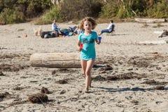 Beach running Stock Photography