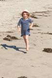 Beach running Stock Image