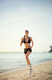 Beach running Royalty Free Stock Photography