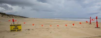 Beach Runway in Use Royalty Free Stock Photos