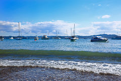 Beach of Russell and Bay of Islands, New Zealand Royalty Free Stock Photo