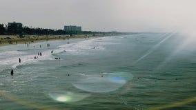 Beach& x27; s天 免版税库存照片