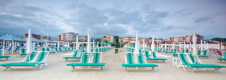 Beach's Panorama, Italy Stock Photo