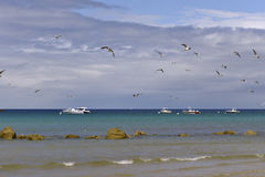 Beach of Sables-d'Or-les-Pins in France Stock Photo