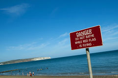Beach safety Royalty Free Stock Photo