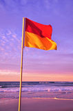 Beach safety flags Royalty Free Stock Photos