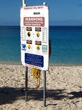Beach Safety Sign Royalty Free Stock Images