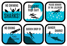 Free Beach Safety Signs Royalty Free Stock Photography - 59177717