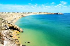 Beach in Sagres, Portugal Royalty Free Stock Images