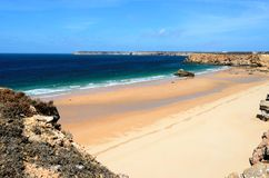 Beach in Sagres, Portugal Royalty Free Stock Photography