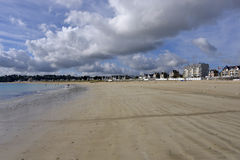 Beach of Saint-Cast-le-Guildo in France Royalty Free Stock Image