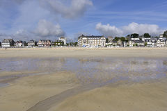 Beach of Saint-Cast-le-Guildo in France Royalty Free Stock Photography