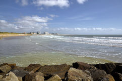Beach of Saint-Gilles-Croix-de-Vie in France Royalty Free Stock Photography