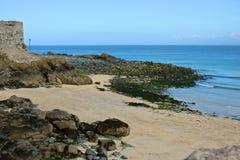 Beach at Saint Ives, Cornwall, England Royalty Free Stock Photo