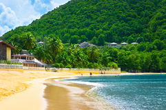 Beach in Saint Lucia, Caribbean Islands Stock Photo