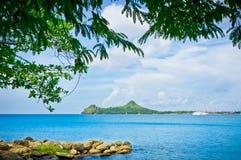 Beach in Saint Lucia, Caribbean Islands Stock Photos
